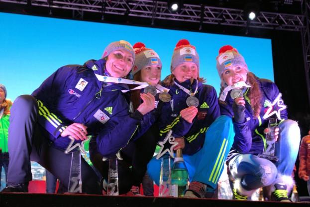 Українські біатлоністки, серед яких дві тернополянки, отримують заслужені срібні нагороди