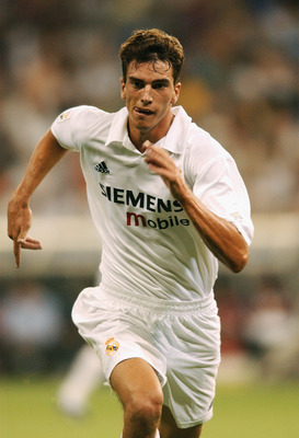 MADRID - 4 AUGUST:  Francisco Pavon of Real Madrid during the Real Madrid Centenary Tournament Final between Real Madrid and Bayern Munich at the Santiago Bernabeu Stadium in Madrid, Spain on August 4, 2002. (photo by Shaun Botterill/Getty Images)