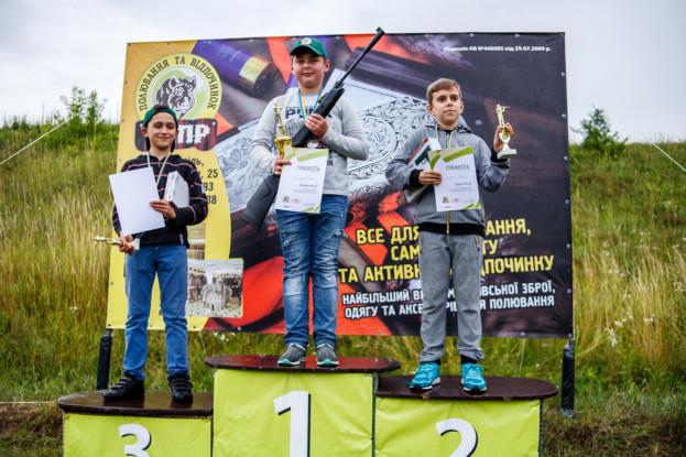 Переможець та призери дитячого стрілецького міні-турніру